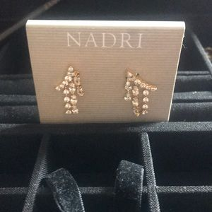 Nadri dangling cubic zirconium earrings